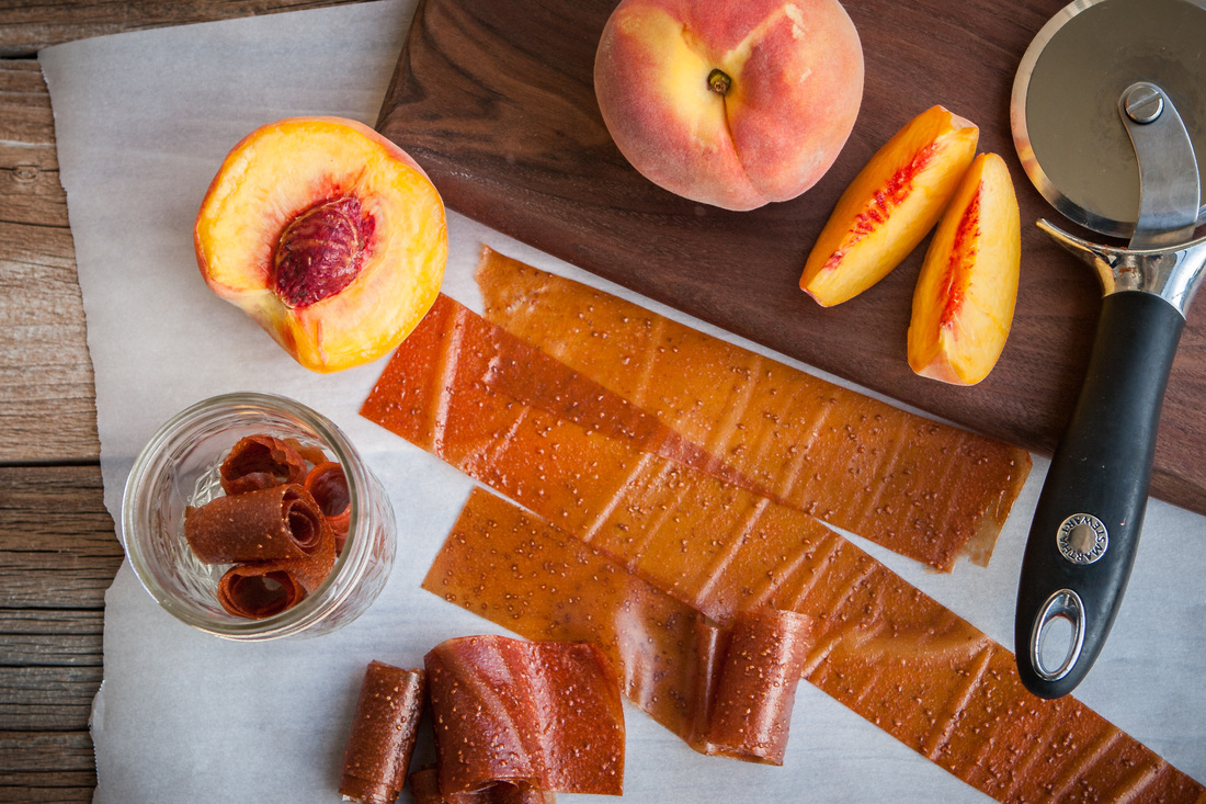 Strawberry Peach Fruit Leather