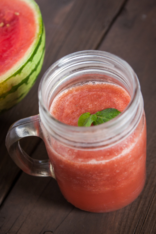 Watermelon Ginger Mint Slushie