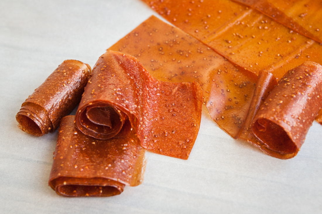 Peach Strawberry Fruit Leather